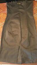 Vestito abito tubino Akè marrone nuovo 44 S M lucido spacco spalline regolabili