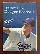 Los Angeles Dodgers Basebell Pocket Schedule Clayton Kershaw 2011 New Rare
