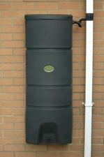 160 Litre Wall Mounted Water Butt Rainwater tank and Guttermate diverter