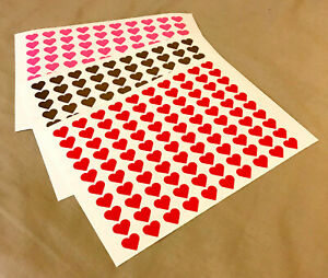 100 HEART SHAPES WINE GLASS VINYL STICKERS DECAL WEDDINGS PARTY VALENTINES