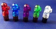 SNUFF BULLET ACRYLIC LOT  5 BROWN GLASS BULLET