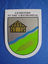 Aufkleber Nuthe-Urstromtal Stadtwappen der Gemeinde in Brandenburg 10,5 x 7,7 cm