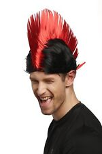 Wig Carnival IRO Mohican Punk Red Black Anarchy xr-012-p103/PC13