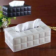 PU Leather Tissue Paper Storage Box Napkin Case Cover Holder Rectangle