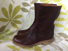 ACCENT LADIES GENUINE BROWN LEATHER ANKLE BOOTS SIZE 3 UK 36 EUR