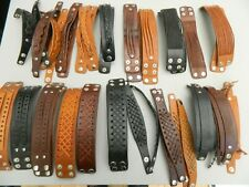Leather Bracelet wristband with fastener - various styles available