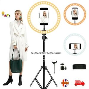 "8/10"" LED Ring Light with Tripod Youtube Tiktok Makeup Video Live Phone Selfie"