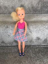 Sindy vintage pedigree doll with hard to find Checker Decker skirt.