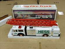 Vintage 1989 Hess Toy Fire Truck With working lights Flashers & small Coin bank