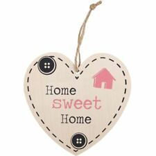 Home Sweet Home Wooden Shabby Chic Wooden Heart Sign Housewarming Gift