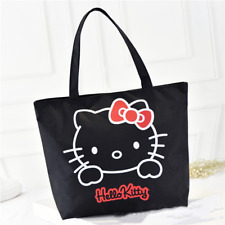 Hello kitty Black Canvas Bag Tote Bag Purse for girls High Quality FREE SHIPPING
