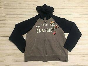 Hanes Boys Funny Food Pizza Hoodie Sweatshirt Size XL 16/18