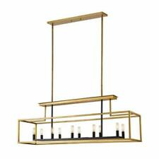 12-Light Chandelier in Brushed Nickel and Black Finish