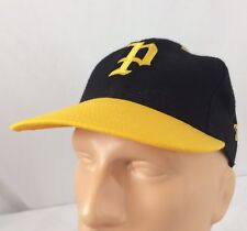Vtg P Hat Fitted Size 7 1/4 Delont Cap Black Number #51 Yellow Black Script