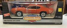 1/18 SCALE AMERICAN MUSCLE ORANGE PONTIAC GTO JUDGE DIECAST CAR ERTL