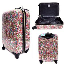 "NEW Betsey Johnson 30"" Spinner Hardside Suitcase Sprinkles Candy Luggage"
