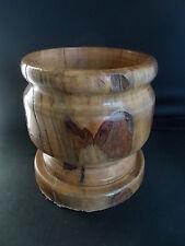 Handmade Turned English Wooden Bowl Fabulous Wood Graining Treen Woodenware 18