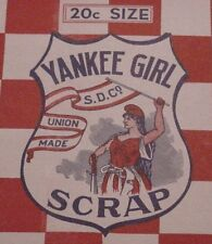 Vintage Yankee Girl Scrap Tobacco Box Detroit, Michigan New Old Warehouse Stock