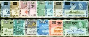 British Antarctic 1971 Surcharge Set of 14 SG24-37 Very Fine MNH