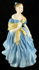 Vintage Royal Doulton Adrienne Lady Figurine Blue Dress Yellow Shawl HN2304