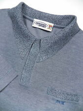 MISSONI SPORT MENS XL LUXURY PIQUE POLO SHIRT STYLISH STEEL GREY MADE IN ITALY