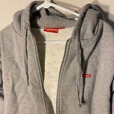 Supreme Heather Grey Gray Box Logo Thermal Floral Hoodie Sweatshirt FW16 sz L
