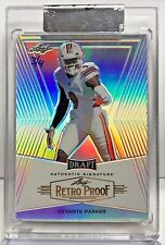 DeVante Parker 2014 Leaf Metal Draft 2016 Holiday Bonus Retro Proof #'d 3/4