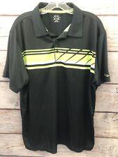 Snake Eyes Dry-18 Black Green/White GOLF Polo 100% Polyester EUC Men's Size XL