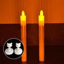 Leuchterkerzen Spitzkerzen Tafelkerzen Stabkerzen 27.5cm elfenbein LED