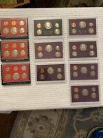 Lot of 10- ALL 1980's US Mint Proof Sets 1980 S to 1989 S