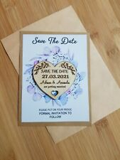 "Wedding ""Save the Date"" Fridge Magnets -  X 60pc with cards + envelopes"