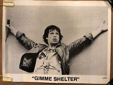 Gimme Shelter The Rolling Stones Original Vintage Poster 1977 Mick Jagger
