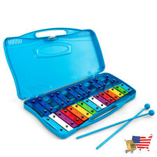 Mallet Percussion Xylophone 25 Notes Kids Glockenspiel Chromatic Metal Xylophone