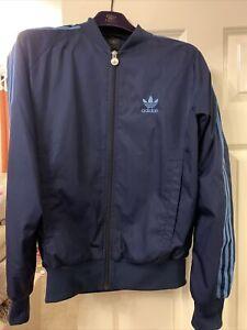 Small Mens Navy Adidas Jacket