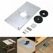 Aluminum Alloy Router Table Insert Plate Router Insert Rings Wood Router Tools