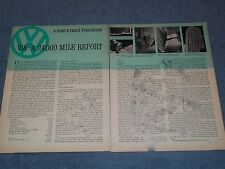 1962 Volkswagen Bug 24,000 Mile Report Vintage Info Article --From 1964---