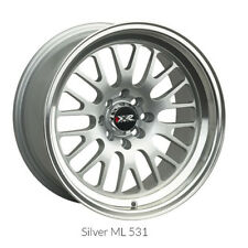 XXR 531 16x8 4x100 4x114.3 +20 HYPER SILVER MACHINED NEW SINGLE WHEEL (1) JDM