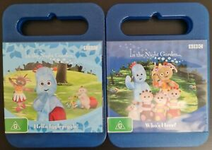 2 In the Night Garden DVDs. Hello Igglepiggle & Who's Here? PAL. Free postage!