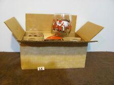 NIB Vintage Georges Briard Santa Reindeer Christmas Glasses                   65
