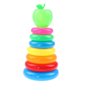 Kids Educational Toy Rainbow Color Stacking Rings Tower Toy Bath Play Toy GifSJ