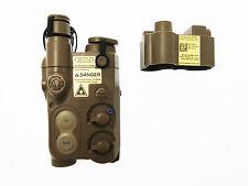 Porta Batteria softair esterno AN/PEQ da RIS con prolunga da 3 cm TAN
