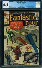 Tu Four # 20 US Marvel 1963 1st Molecular on Jack Kirby FN + CGC 6.5