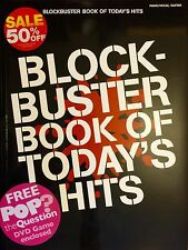 Blockbuster Book Of Today's 25 Hits Piano Sheet Music Book & Free DVD Pop Game