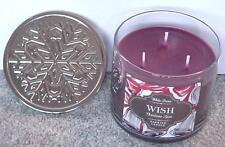 BATH & BODY WORKS 3 WICK 14.5 OZ CANDLE 2015 CHRISTMAS SPICE ~WISH~