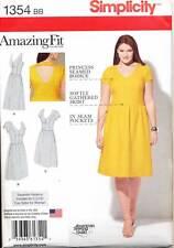 SIMPLICITY SEWING PATTERN 1354 WOMENS SZ 20W-28W AMAZING FIT DRESS IN PLUS SIZES