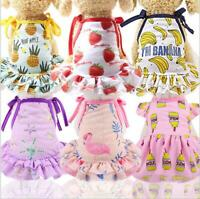Pet Puppy Clothes Small Dog Cat Pet Dress Pattern Vest T Shirt Skirt Apparel