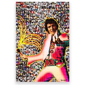 """MARIA MURGIA  """"Elvis Presley"""" Fotomosaico digitale cm 50x75 + ARCHIVIO"""