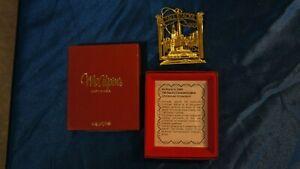 1995 Tall Stacks Riverboat Cincinnati 3D Ornament 24K Gold Finish McAlpin's