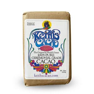 Ceremonial Cacao (Keiths) - 454g (16 oz.) Solid Bar