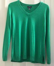 Donna Verde a Maglia GAP Maglione Pullover Taglia XS